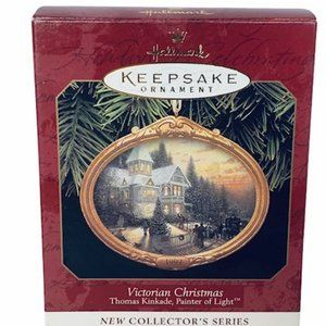 Thomas Kinkade Ornament Victorian Christmas 1997